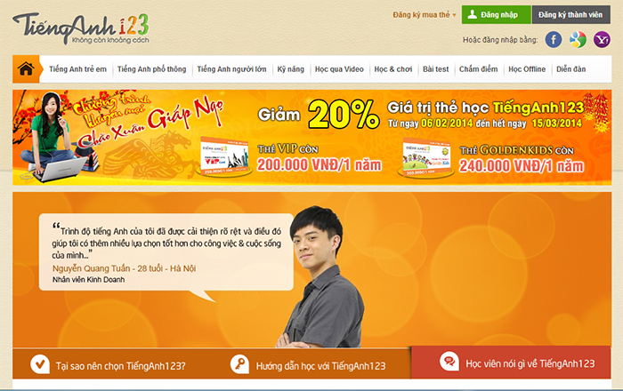 Website học tiếng anh online