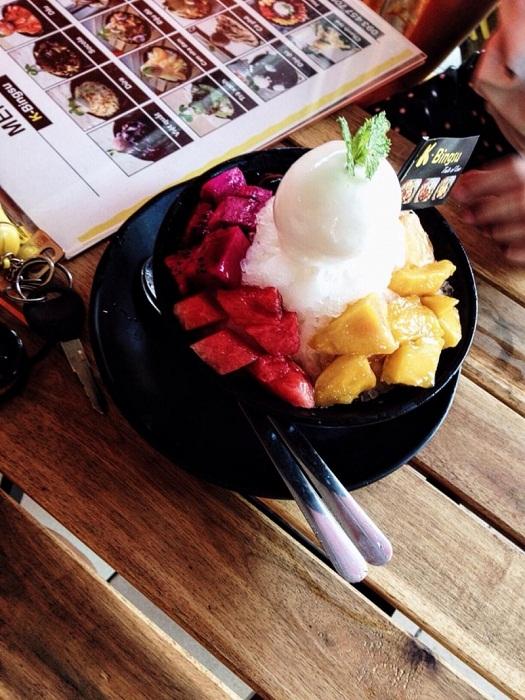 bingsu trái cây tại K Bingsu