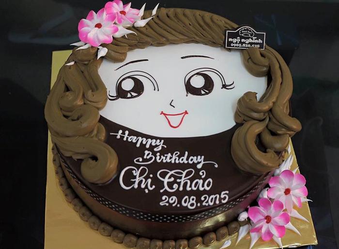 Hình ảnh bánh sinh nhật tặng chị em gái