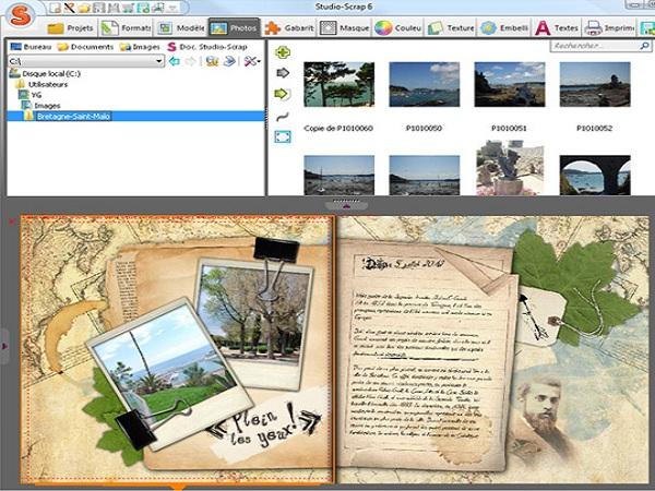 Phần mềm ghép ảnh Studio Scrap