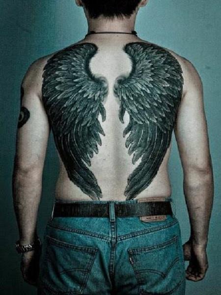 hình xăm đôi cánh thiên thần