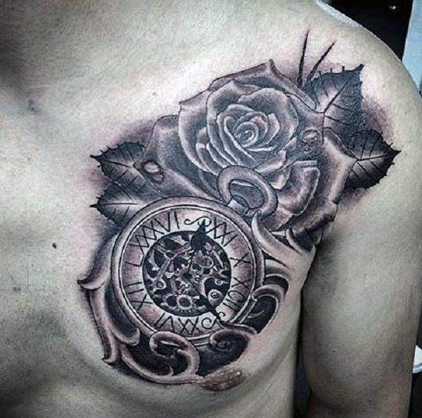 đồng hồ và hoa hồng