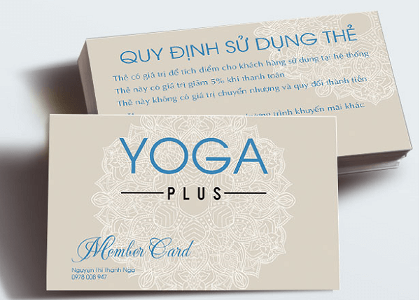 Mẫu thẻ hội viên phòng tập Yoga