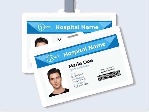 Mẫu thẻ nhân viên bệnh viện
