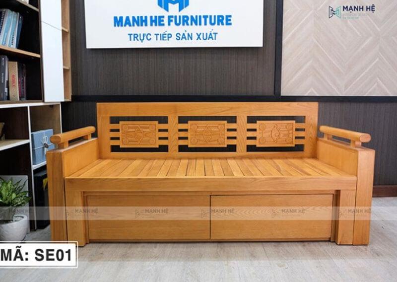 Chỉ với một bộ sofa giường gỗ đa năng, căn phòng của bạn trở nên tiện nghi và thư giãn tuyệt vời